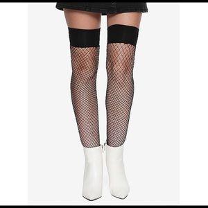 Sexy Black Thigh High Fishnet Stockings Size M/L